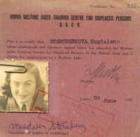 The sisters changed their last name several times to sound less Jewish. Here it is Sternberkova (though Magda signed her original last name.)(Martin, Naomi -  Naomi Martin )