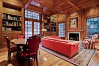 The study in the 12,000-square-foot home.