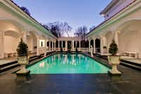 According to the listing, the pool area is modeled after Hearst Castle in San Simeon, Calif.