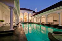 Another view of the pool courtyard.