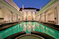 According to the listing, the pool area is copied from the legendary San Simeon estate in California.