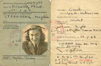 United Nations Relief and Rehabilitation Administration identification papers for Magda Sternberg, issued after the war( Naomi Martin  )