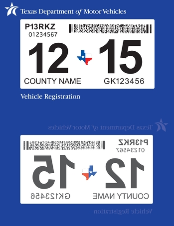 Dmv unveils new look for registration window sticker transportation dallas news