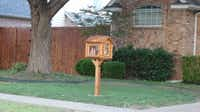 Little Free Library Number 9630 at at 387 Bedford Drive in Richardson, TX