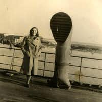Magda Sternberg on a ship to America.(Martin, Naomi -  Naomi Martin )
