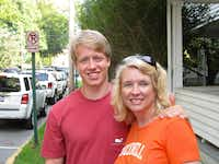 Writer Mary Jacobs with her son, Alec, taken during his senior year at Bucknell University in 2011.