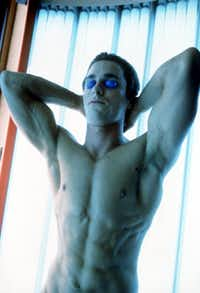Killer abs: Christian Bale in American Psycho