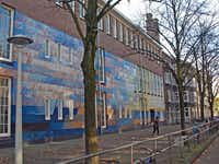 The school that Anne Frank attended from 1934 until 1941 is painted with quotes from her diary.(Irv Green -  Irv Green )