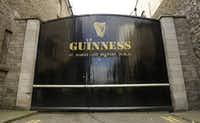 The St James's gate entrance at the Guinness storehouse in Dublin, Ireland,