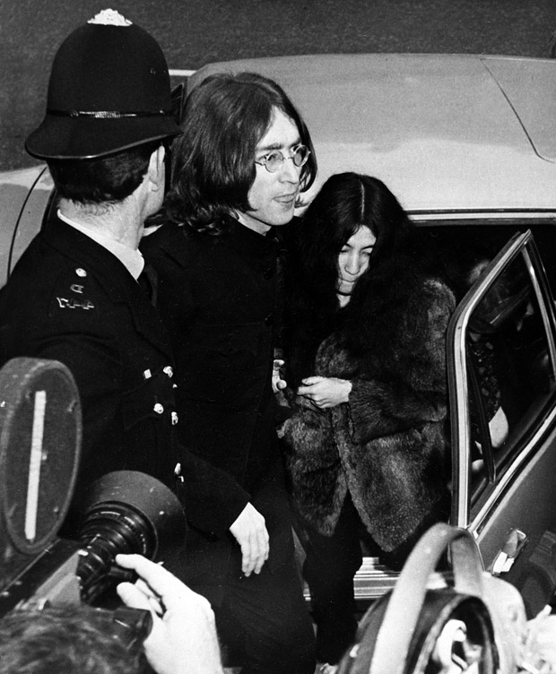Image result for john and yoko arrested images
