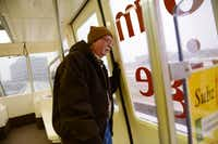 Johnny Williams, manager for the Las Colinas Area Personal Transit System, checks the line for maintenance on Feb. 6, 2014 in Las Colinas. The small tram that runs around Lake Carolyn connected to the DART orange line last summer, allowing people who work in the area another transportation option. (Rose Baca/Neighborsgo Staff Photographer)( Rose Baca )