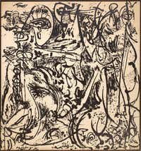 Jackson Pollock's  large, black-and-white  Echo: Number 25  can be seen at the Dallas Museum of Art through March 20.(Jackson Pollock - Dallas Museum of Art)