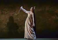 "Alexandra Deshorties in the role of Juliana Bordereau performs a scene from Dominick Argento's opera ""The Aspern Papers"" during a dress rehearsal"