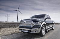 """The 2013 Ram 1500 Longhorn Edition that Terry Box was driving was copper and tan but had the same specs as this one. """"I've got to believe this is a one-in-a-billion situation,"""" Ram's CEO said of the fire."""