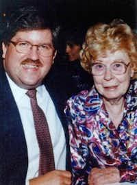 Marjorie Nugent met Bernie Tiede after her husband died in March 1990.
