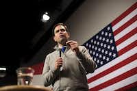 Sen. Marco Rubio of Florida, campaigns at Saint Anselm College in Manchester, N.H., Feb. 4, 2016. (Hilary Swift/The New York Times)