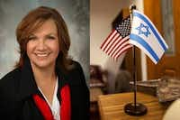 Rep. Molly White, R-Belton, put an Israeli flag on her office desk to greet Texas Muslims visiting the Capitol in Austin.