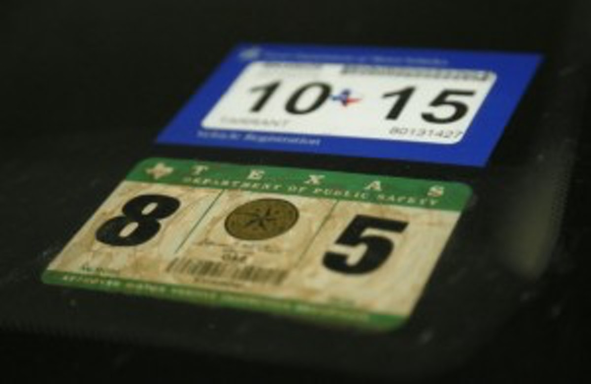 From now on, Texas drivers need only registration sticker ...