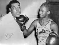 Marques Haynes and boxer Joe Louis (Courtesy Marques Haynes)