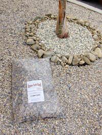 Azuza Soft Rock can be used for landscaping around trees and bushes.(none given)