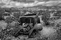 Abandoned Car, shot in 2003, is one of the photographs in Terry Cockerham's exhibit at the Irving Arts Center.( Courtesy of Terry Cockerham )