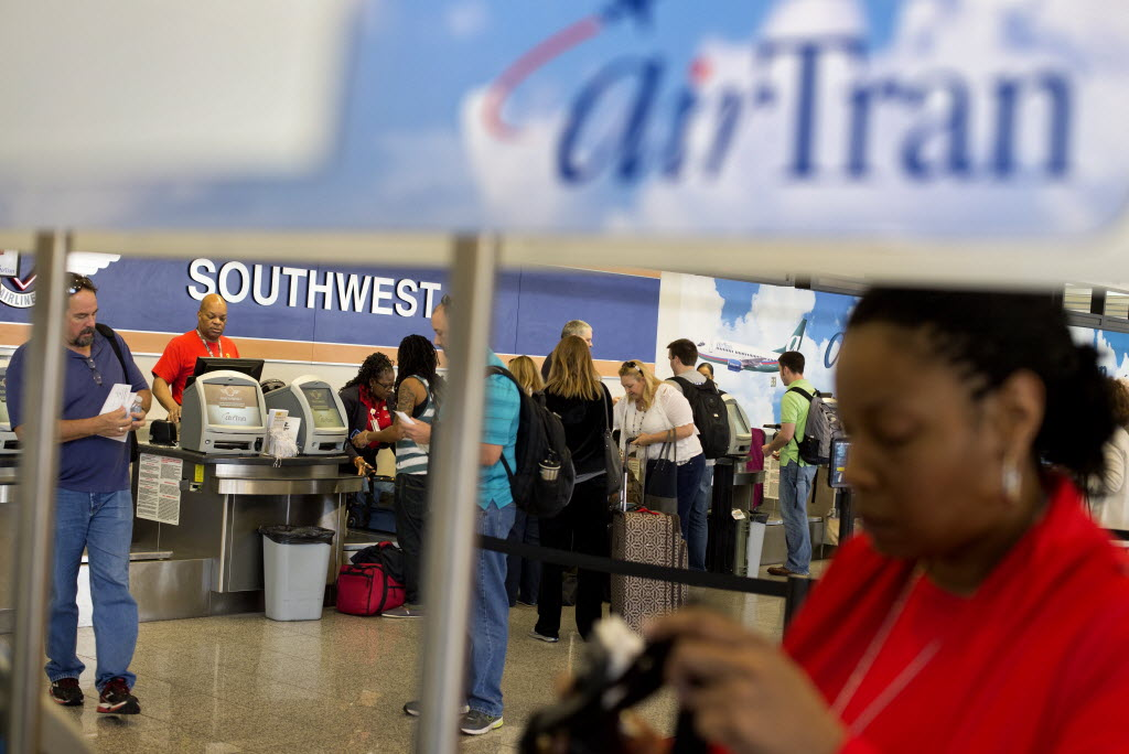 southwest airlines will cut 300 airtran jobs at the atlanta airport as its flight strategy there changes airlines dallas news