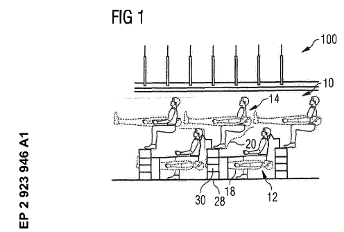 Airbus proposes stacking seats to fit more passengers on