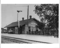 Allen's first train depot was built to serve the Houston & Texas Central railroad, formed in 1872. It no longer exists.