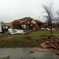 Amanda Williams' house in Copeville was torn apart by the Dec. 26 tornado. (Valerie Wigglesworth/Dallas Morning News)