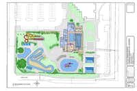 The city of Farmers Branch approved the bids and contracts for a new aquatics center, shown in this rendering, on March 18.(Jeff Harting - Submitted)