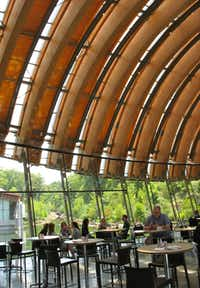 Eleven, the restaurant at Crystal Bridges Museum of American Art in Bentonville, Ark., offers spectacular views.