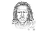 Sketch of suspect in fatal shooting Sunday in Arlington park.
