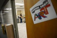 Stephanie McPherson, Shugart Elementary School's new art teacher, unpacks supplies in the school's art room. The Garland ISD board of trustees approved a plan to expand its art program to include 47 elementary schools in the next five years.Photo by ROSE BACA  - neighborsgo staff photographer