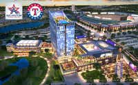 Rendering of the proposed $200 million development project near Globe Life Park in Arlington (Courtesy/city of Arlington).