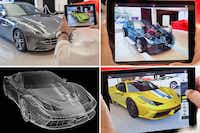 """The Ferrari augmented reality showroom is an example of AR technology. Shoppers can """"see"""" the inner workings of a car without lifting the hood. Westcott LLC invested in Metaio, whose technology is used in the Ferrari software.(zspace.com)"""