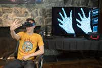 YouTube tech gadget star Austin Evans tries his hands at Metas AR developer kit that hit the market for $667 and sold out in a hurry. The California-based tech startup is among Court Westcott's current AR investments.( Meta  )
