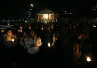 "Baylor students and alumni hold a candlelight vigil outside the home of Baylor University President Ken Starr, in what organizers call a Survivors Stand"", Monday, Feb. 8, 2016, in Waco, Texas. The students and supporters attended the event in an effort to urge changes to how the school handles sexual assault. (Rod Aydelotte/Waco Tribune Herald, via AP)(Rod Aydelotte - AP)"