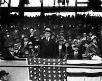 Calvin Coolidge worked to cut taxes and government spending during his presidency in the 1920s. The man known as Silent Cal opened the baseball season in Washington by tossing out the first ball in a game between the Senators and the Athletics on April 20, 1924.
