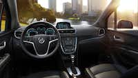 Inside the 2013 Encore, the smallest vehicle in Buick's five-model lineup,  attention to detail is evident everywhere.