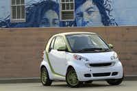 The Smart Fortwo can travel 63 to 98 miles per charge using its 30-kilowatt permanent magnet motor and lithium battery pack, but 48 percent of the people surveyed by Carinsurance.com picked it from among 12 other cars as cringe-worthy.