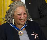 Toni Morrison earlier this year.