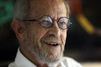 Elmore Leonard earlier this year at his home in Bloomfield Township, Mich.
