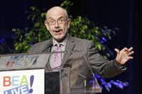 """Author Wally Lamb speaks at Book Expo America, Thursday, May 30, 2013 in New York. Lamb's latest novel, """"We Are Water,"""" will be released in November."""