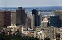 Buildings stand in the skyline of Boston, Massachusetts, U.S., on Tuesday, Aug. 7, 2012.