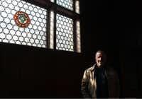 In this March 24, 2014 photo Jim Haertel stands in an upper floor of the former administrative building for Pabst brewery in Milwaukee. He bought that building and another one in 2001. He supports an effort to try to raise money to bring the company's headquarters back to Milwaukee.  (AP Photo/Carrie Antlfinger)(Carrie Antlfinger - AP)