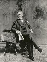 This image provided by the Pabst Mansion museum shows Pabst Brewery founder Frederick Pabst around 1898. A small group of Milwaukee residents wants to revive the city's beer brewing tradition by buying Pabst Brewing Co. from a California executive in hopes of returning the brand's headquarters to its birthplace.  (AP Photo/Pabst Mansion)Carrie Antlfinger - AP