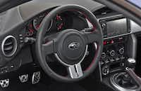 Inside, the Subaru BRZ is fairly basic but about right for a sporty exterior and affordable price of $25,495.