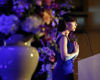 Barbara Pierce Bush, CEO and co-founder of Global Health Corps, spoke Friday at the annual luncheon of New Friends New Life, which helps sexually exploited teens and women get their lives on track.(David Woo - Staff Photographer)