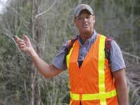 Ben Sandifer in 2014, trying to protect the Great Trinity Golf Forest from the golf course construction. (File Photo/Staff)