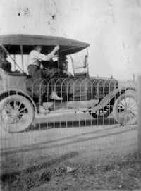 When the cars of the Bilbo Jitney Line filled up, passengers took to the running boards, windowsills and even the roof.